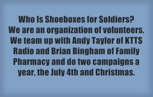Shoeboxes for Soldiers Quote