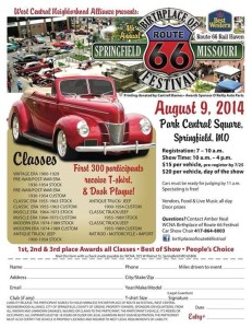 2014 Birthplace of Route 66 Festival in Springfield, MO